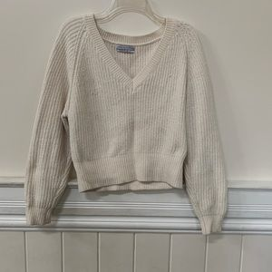 URBAN OUTFITTERS Cream V Neck Sweater